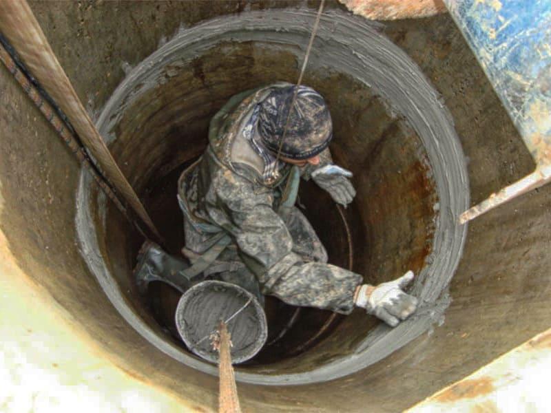 отремонтировать колодец из бетонных колец в Новой Москве