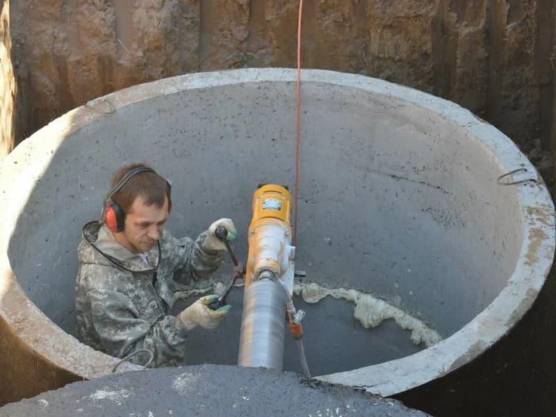 канализация из бетонных колец в Видном